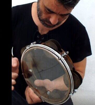 UNOSELL ::   TEF TAMBOURINE RIQ  MARINE w /  PUNCHED CYMBALS NEW !!!!!!!!!!!!!!!