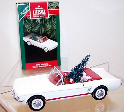 1992 HALLMARK Ornament 1966 MUSTANG WHITE QX4284 2nd in series MIB in Box NEW