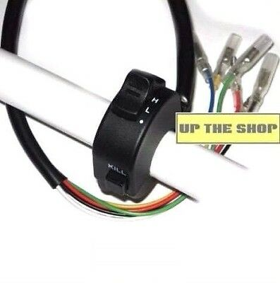 Handlebar switch assembly, stop button, on-off lights, Hi low beam  narrow fit
