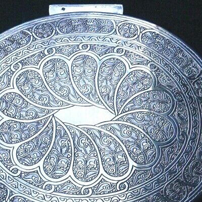 Magnificent Egyptian 900 Silver Oval Box Very Rare