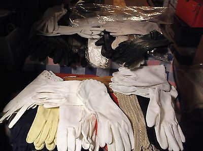 ksm. Vintage Ladies Womens Gloves Variety Materials Colors Sizes Use Drop Box