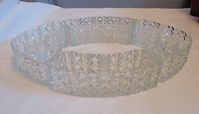L.E. Smith 1940's 4 Piece Crystal Posey Ring With Candleholders