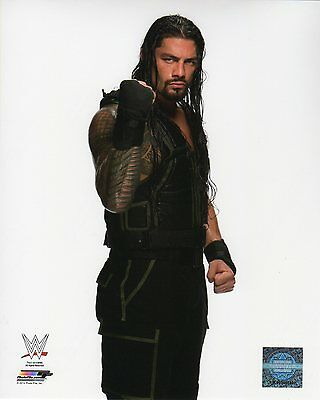 "ROMAN REIGNS WWE PHOTO STUDIO 8x10"" OFFICIAL WRESTLING PROMO"
