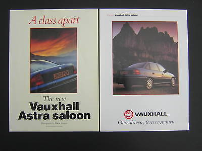 Vauxhall Astra Saloon - Special Feature Advert from 1990 - Original