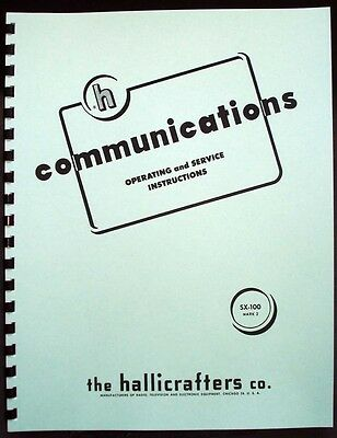 Hallicrafters SX-100 SX100 Mark2 Receiver Manual Ham Radio
