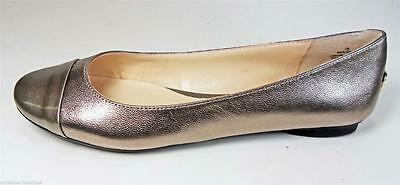 New Authentic Nine West Flats Flats Style Lucille Gold Leather Size  7