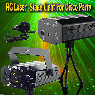 LED Stage Lighting Mini R&G Laser Projector Disco Party Club DJ Light UK Seller
