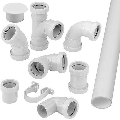 Pushfit Waste Pipe Fittings Connectors Bends Branches Clips Sockets and Traps