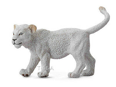 FREE SHIPPING | CollectA 88551 White Lion Cub Walking Replica - New in Package