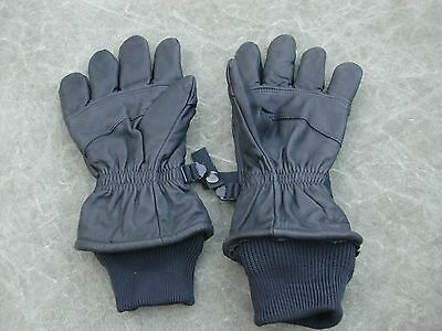 New Black Leather US Military Gloves Intermediate Cold Extra Large (XL) Size 5