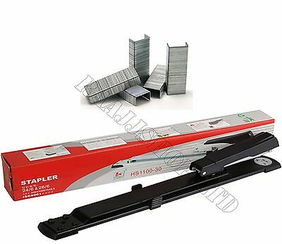 Premium Quality Long Arm Stapler + Free 1000 Staples Upt0 25 Sheets Boxed Packed