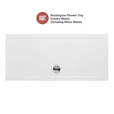 Rectangular Shower Trays - 1300mm to 2000mm Wide (Includes 90mm Chrome Waste)