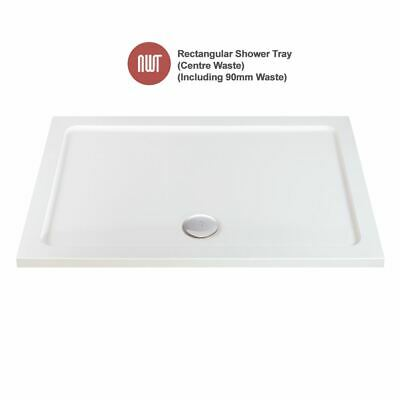 Rectangular Shower Trays - 800mm to 1200mm Wide (Includes 90mm Chrome Waste)