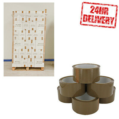 1 Pallet (3240 Rolls) Brown Buff 48mm x 66m Parcel Packing Tape JOB LOT !