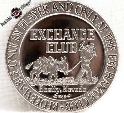 $1 Proof-Like Slot Token Exchange Club Casino 1966 Fm Mint Beatty Nevada Coin