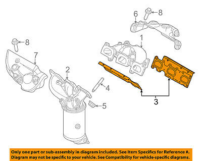 FORD OEM Exhaust-Manifold Gasket AA5Z9448D SOLD INDIVIDUALLY