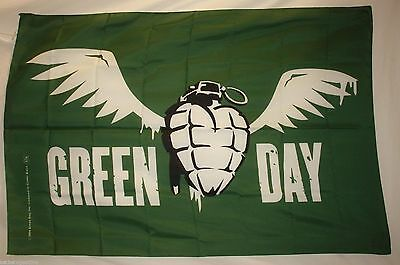 Green Day Winged Grenade Billie Joe Armstrong Cloth Fabric Poster Flag-New!!