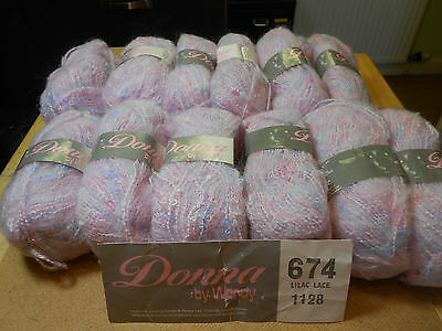 Wendy Donna- 77% Courtelle 15% Mohair 6% Polyester -12 x 50 grams - Lilac Lace