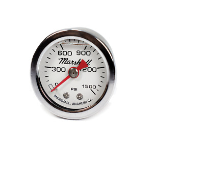 Nitrous Outlet 00-63001 Nitrous Bottle Pressure Gauge 0-1500psi Liquid Filled