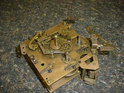 Vintage German Fred J Koch Brass Clock Movement 124 72948 Parts / Repair   E418