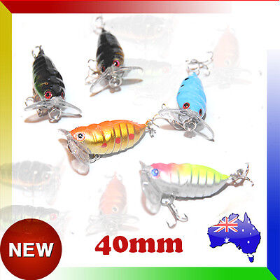 Mini Cicada Bug Surface Walker Fishing Lure Tackle Topwater Lures