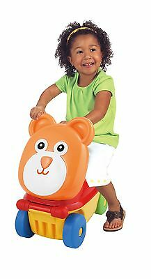 Kids 3 In 1 Push Along Sit & Ride On Car Vehicle Toy With Storage Under The Seat