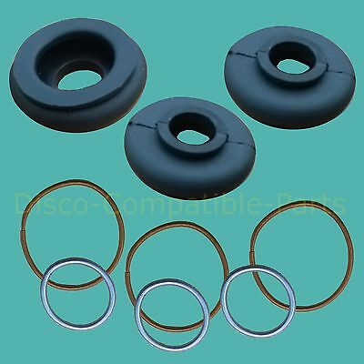 Land Rover Series 2 & 3 Track Rod End Ball Joint Rubber Boot Kit x 3