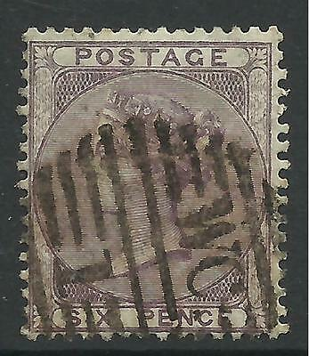 GREAT BRITAIN. 1856. 6d Deep Lilac, No Check Letters. SG: 69. Fine Used.