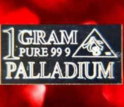 ACB Palladium 99.9 Pure 1 GRAM Precious Metal ACB Very Rare Bullion PD Bar