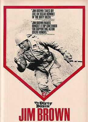 Jim Brown 1968 Ad- The Dirty Dozen/MGM/like an Oscar nominee