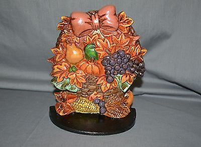 Vtg Doorstop Christmas Around World House of Lloyd Autumn Basket Door Stop 1991
