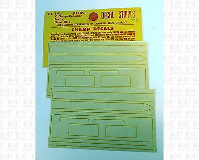 Champ O Decals Dulux Gold Canadian Pacific Steam Loco Stripe Set S-42