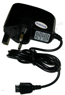 Mains Home Wall Travel Charger For Samsung GT-E1230 E1230 Brand New Black UK