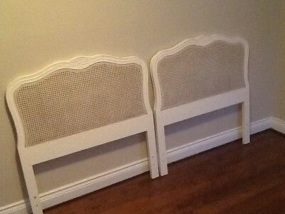 Shabby Cottage Pair of TWIN  Headboards French Vintage Style 2 twins make a KING