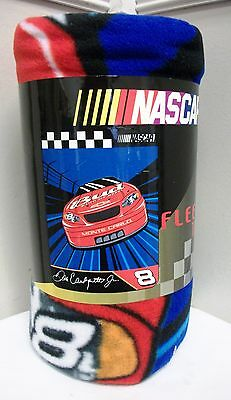 "NEW NASCAR #8 DALE EARNHARDT JR FLEECE THROW BLANKET 45"" X 60"" RACING TAILGATING"