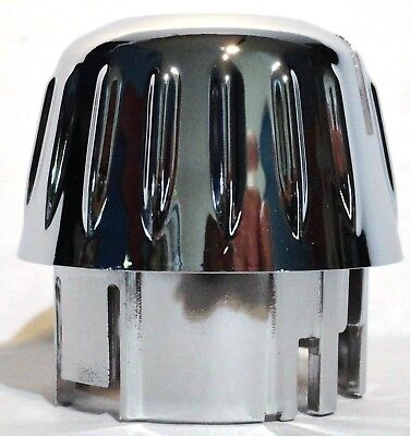 A/C heater knob covers(3) outer chrome plastic Kenworth 2006+ W&T Models