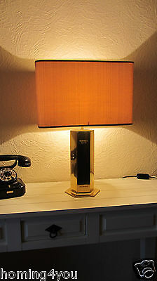 DUNHILL Cigarettes Tisch Lampe Leuchte Messing '60er/'70er rar advertising
