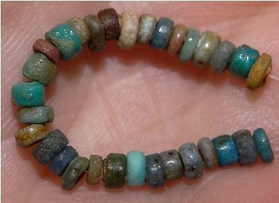 30 Ancient Egyptian Faience Mummy Beads, 2500+Years Old, 3-4mm, #M234