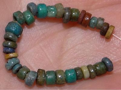 30 Ancient Egyptian Faience Mummy Beads, 2500+Years Old, 2-3mm M235