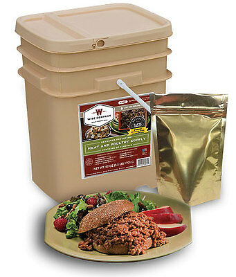 WISE 60-SERVING MEAT LONG TERM FREEZE DRIED SURVIVAL STORAGE FOOD SUPPLY MEALS