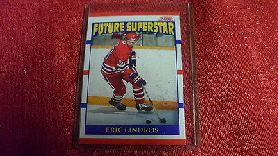 1990-91 Score NHL Hockey Eric Lindros RC Rookie Card #440 NICE!