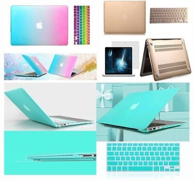 Gold & Tiffany Blue Mac Case Keyboard Cover For Macbook Air Pro Retina 11 12 13""