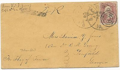 CSA POW Cover Scott #65 Target Cancel Sandusky, OH July 7 1864 CDS Richmond, VA