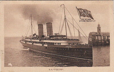 Postcard Ship SS Viking Isle of Man Steam Packet Co