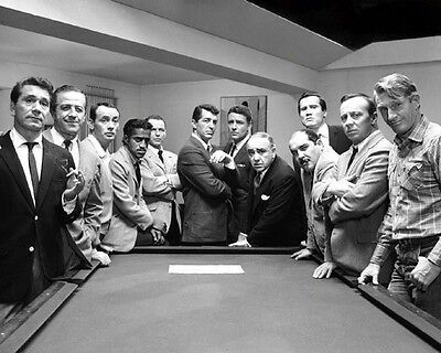 1960 THE RAT PACK Frank Sinatra Dean Martin Ocean's Eleven 11 Glossy 8x10 Photo