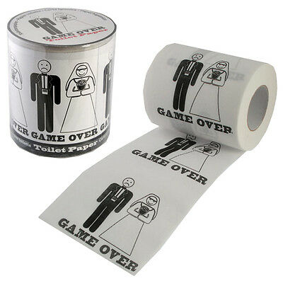 Game Over Toilet Paper Wedding Gift Novelty Fun Roll Party Tissue Decoration New