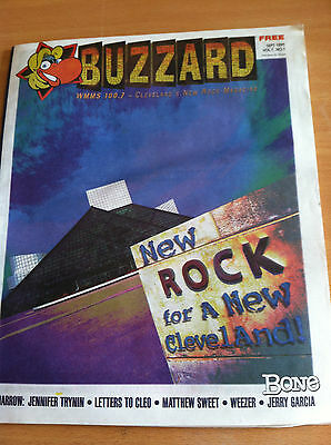 BUZZARD (Vol.1 No.1) WMMS Sept. 1985 (Jerry Garcia, Matthew Sweet, Weezer) VG+