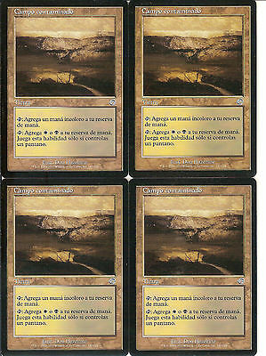 mtg Magic 4x Tainted Field (Campo Contaminado) Spanish Excellent