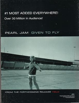 Pearl Jam 1998 Ad- Given To Fly
