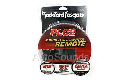 New Rockford Fosgate PLC2 Level Control Bass Knob 2013 + Punch Power Amplifier
